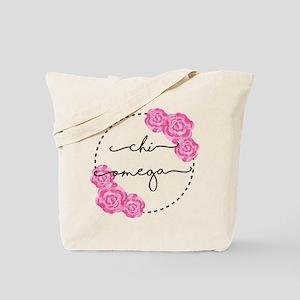 Chi Omega Floral Tote Bag