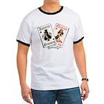 Growing Up Astoria Cards Ringer T-Shirt