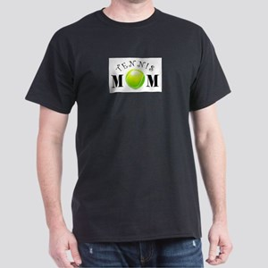 Tennis Mom (swirls) Dark T-Shirt