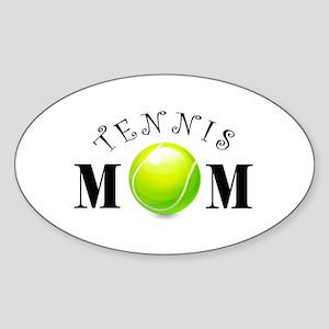 Tennis Mom (swirls) Sticker (Oval)