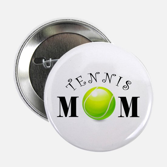 "Tennis Mom (swirls) 2.25"" Button"
