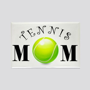 Tennis Mom (swirls) Rectangle Magnet