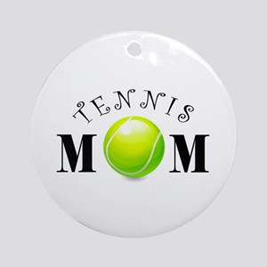 Tennis Mom (swirls) Ornament (Round)