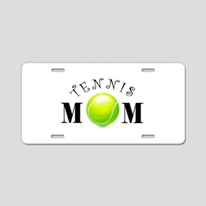 Tennis Mom (swirls) Aluminum License Plate