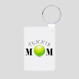 Tennis Mom (swirls) Aluminum Photo Keychain