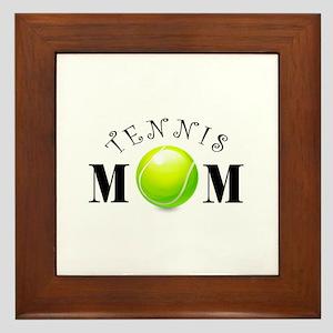 Tennis Mom (swirls) Framed Tile