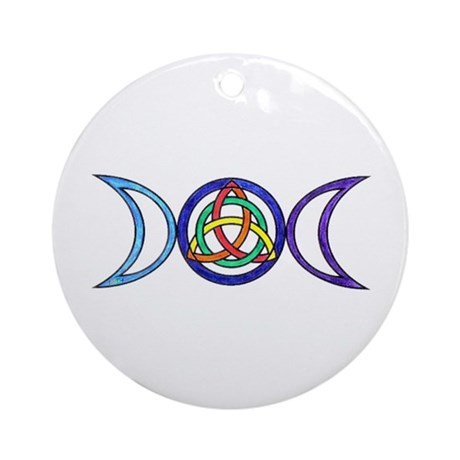 Balanced Indigo Moon Round Ornament