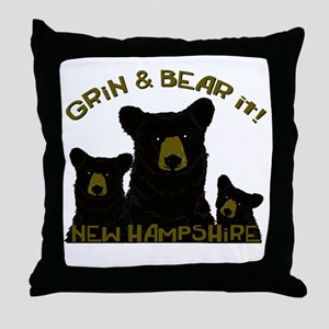 Grin & Bear it! Throw Pillow