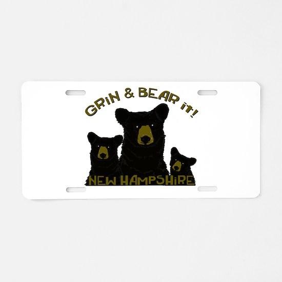 Grin & Bear it! Aluminum License Plate