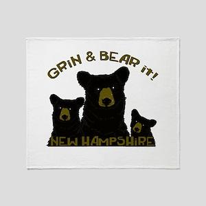 Grin & Bear it! Throw Blanket