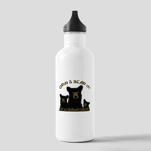 Grin & Bear it! Stainless Water Bottle 1.0L