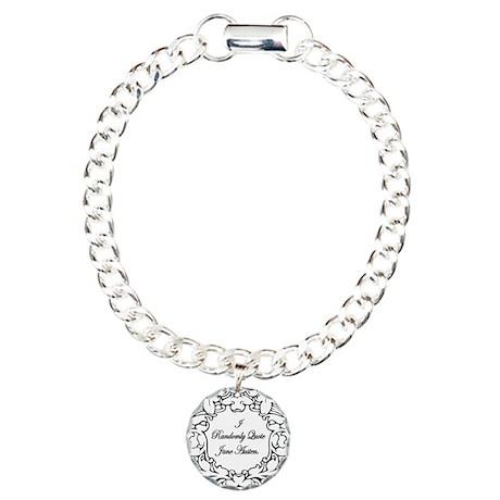 Jane Austen and Darcy designs Charm Bracelet, One