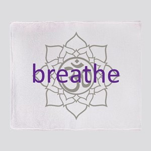breathe Om Lotus Blossom Throw Blanket