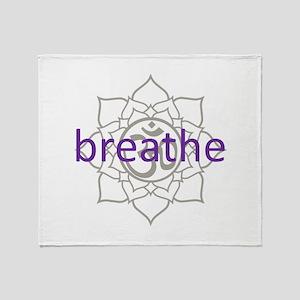 breathe Om Lotus Blossom Throw Blanket