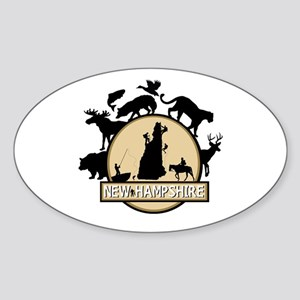 New Hampshire Sticker (Oval)