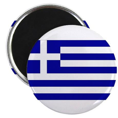 """Greek Flag 2.25"""" Magnet (10 pack)"""
