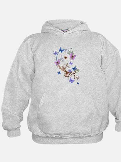 Blue & Purple Butterflies Hoodie