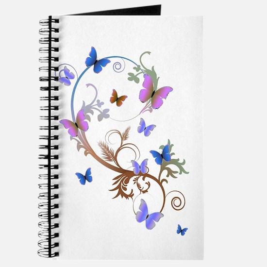 Blue & Purple Butterflies Journal