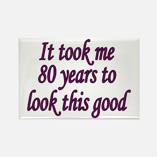 Cute 80 years old Rectangle Magnet (10 pack)