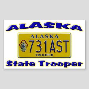 Alaska State Trooper Sticker (Rectangle 10 pk)