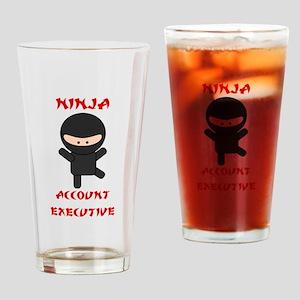 Ninja Account Executive Drinking Glass