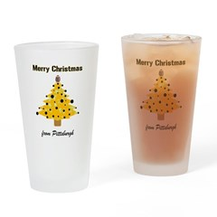 Pgh Xmas Drinking Glass