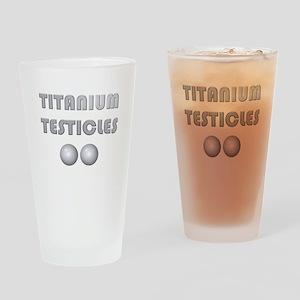Titanium Testicles Drinking Glass