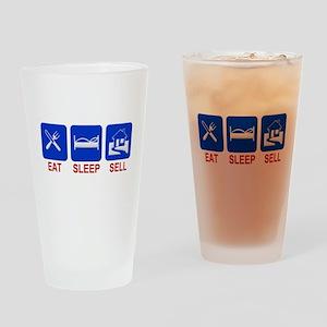 Eat. Sleep. Sell. Drinking Glass