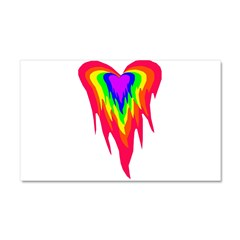 Flaming Heart Car Magnet 20 x 12