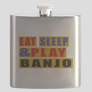 Eat Sleep And Banjo Flask