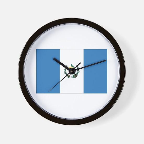 Guatemalan Flag Wall Clock
