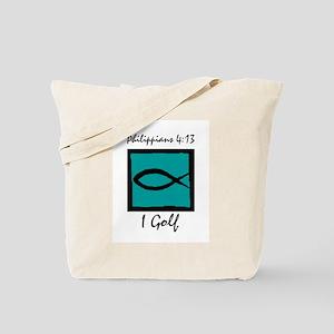 Christian Golfer Tote Bag