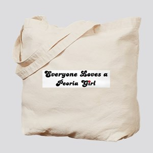 Loves Peoria Girl Tote Bag