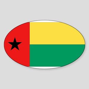 Flag of Guinea-Bissau Oval Sticker