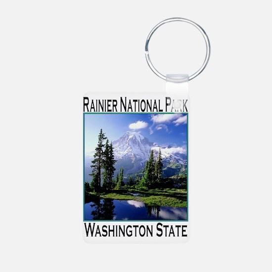 Mt Raineer National Park Keychains