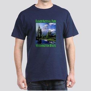Mt Raineer National Park Dark T-Shirt