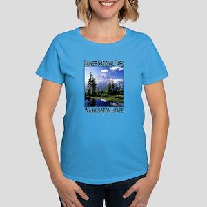 Mt Raineer National Park Women's Dark T-Shirt