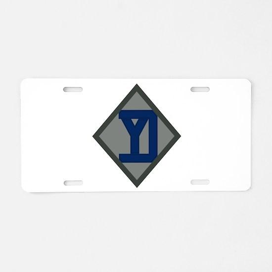26th Infantry Yankee Div Aluminum License Plate