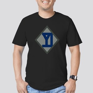 26th Infantry Yankee Div Men's Fitted T-Shirt (dar