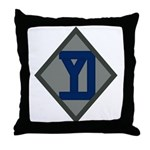 26th Infantry Yankee Div Throw Pillow