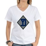 26th Infantry Yankee Div Women's V-Neck T-Shirt