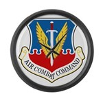 Air Combat Command Large Wall Clock