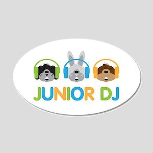 Junior Dj - Puppy - 22x14 Oval Wall Peel