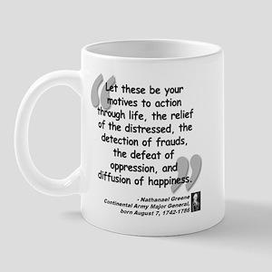 Greene Action Quote Mug