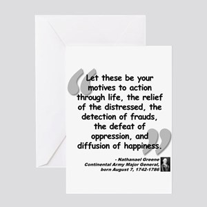 Greene Action Quote Greeting Card