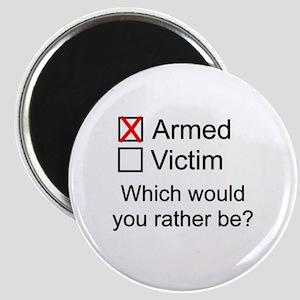 Armed or Victim Magnet