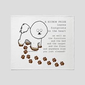 Bichon Frise Throw Blanket