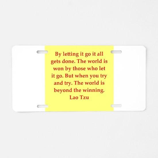 Lao Tzu Aluminum License Plate
