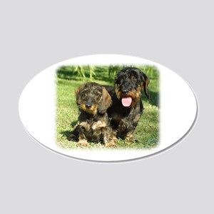 Dachshunds 9F18D-07 22x14 Oval Wall Peel