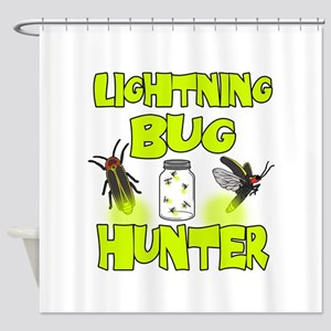 Lightning Bug Hunter Shower Curtain